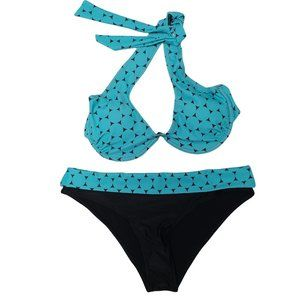 Black & Blue NWOT Bikini XXL